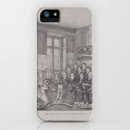 The Geological Lecture Room, Oxford Dr. William Buckland Lecturing on February 15, 1823,1823–30 iPhone Case