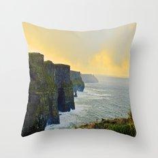 Cliffs of Moher Morning Throw Pillow