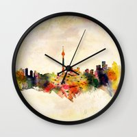 toronto Wall Clocks featuring  Toronto  by mark ashkenazi