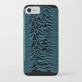 Unknown Pleasures [Blue Lines] iPhone Case