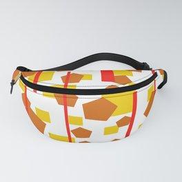 Rectangle Pentagon Stripes Design orange Fanny Pack