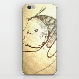 Zen photo - buddha-like figure in contemplation, beautiful photography, graphic lines iPhone Skin