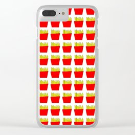 French fries -fries,patatoes,fast food,patato,frites,wedges,patata Clear iPhone Case