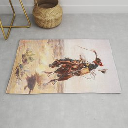 A Bad Hoss Charles Marion Russell Rug