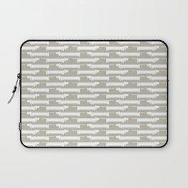White Wiener Laptop Sleeve