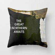 Twin Peaks - The Great Northern Awaits Throw Pillow