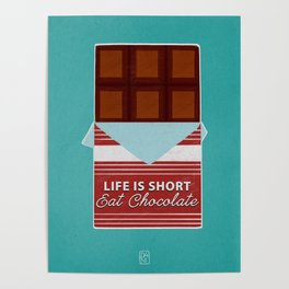 Eat Chocolate Poster