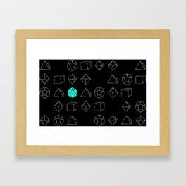 Dungeons and Dragons Dice Framed Art Print