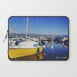 Beautiful day lake Geneva Switzerland Laptop Sleeve