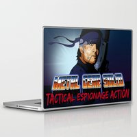 metal gear solid Laptop & iPad Skins featuring Metal Gear Solid 80's Version by LoweakGraph