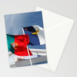 Portugal and Azores flags Stationery Cards