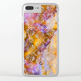 Psicodelic Adventure - Orange Clear iPhone Case