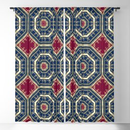 Oriental motifs Blackout Curtain