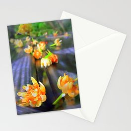 Fallen Basswood Buds Stationery Cards