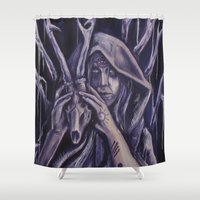 witch Shower Curtains featuring witch by Mrtn Ljmn