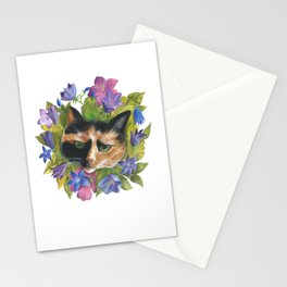 Calico Flower Cat Stationery Cards