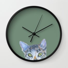 Tabby Kitten Wall Clock