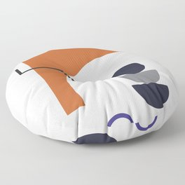 Abstract Shapes - Autumn Floor Pillow