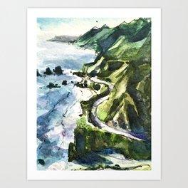 California Coast Big Sur USA Art Print