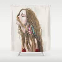 wind Shower Curtains featuring The Wind by Carlos ARL