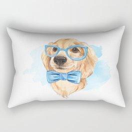 Cute dog. Blue bow tie. Rectangular Pillow