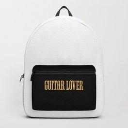 Guitar Lover Golden Premium Text Backpack