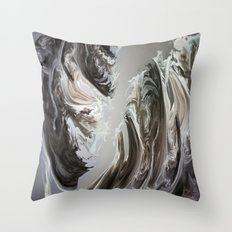fractal M Throw Pillow