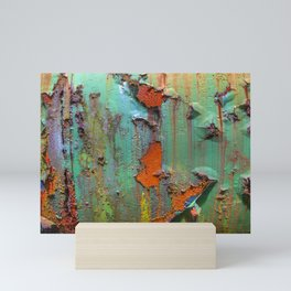 Flaking Paint on Rust Mini Art Print