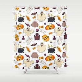 Halloween October Print Shower Curtain