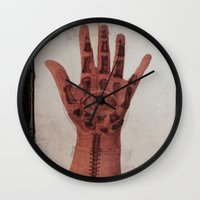evil eye Wall Clocks featuring Evil Eye by Tala Wakanda