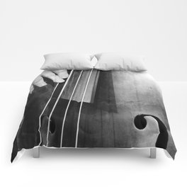 Jazz Bass Poster Comforters