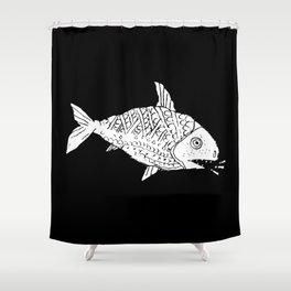 Rare Talking Fish Shower Curtain
