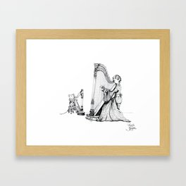 The Harpist Framed Art Print