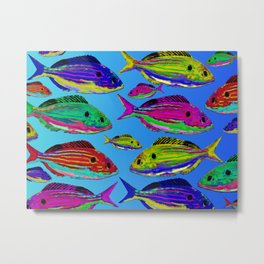 That's So Rad Fishes Metal Print