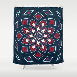 Spiral Rose Pattern D 1/4 Shower Curtain