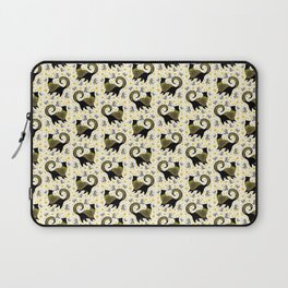 Golden Cocktail Cats Laptop Sleeve