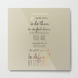 Undefined Soul Quote Metal Print