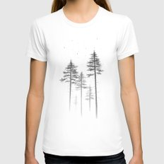 Look Up LARGE Womens Fitted Tee White