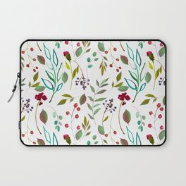 autumn winter berries watercolor pattern Laptop Sleeve