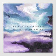 Stillness [Collaboration with Jacqueline Maldonado] Canvas Print