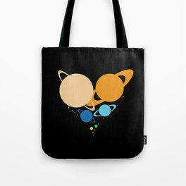 Solar System Heart (to scale) Tote Bag