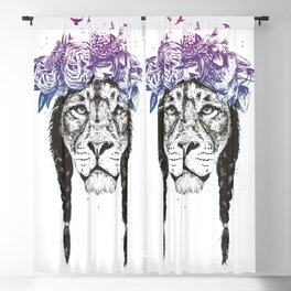 King of lions Blackout Curtain