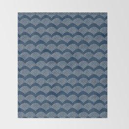 Wabi Sabi Arches in Blue Throw Blanket