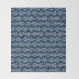 Wabi Sabi Arches in Blue Throw Blanket