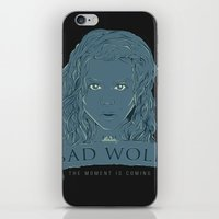 bad wolf iPhone & iPod Skins featuring Bad Wolf by AmdyDesign