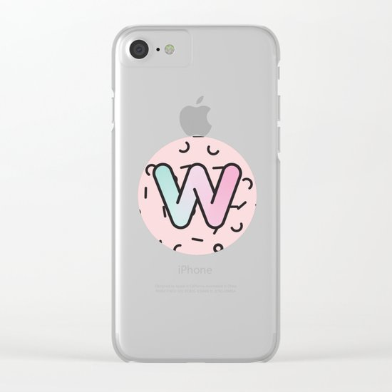 Wacky W Clear iPhone Case