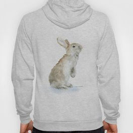 Bunny Rabbit Watercolor Hoody