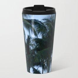 Palm Trees at Dusk Travel Mug
