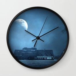 Half Moon Over Saxony Village Home Wall Clock