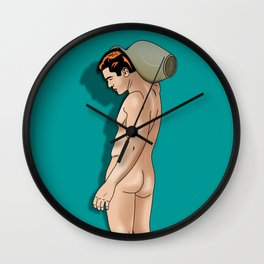 comics male nude art , aquarius Wall Clock